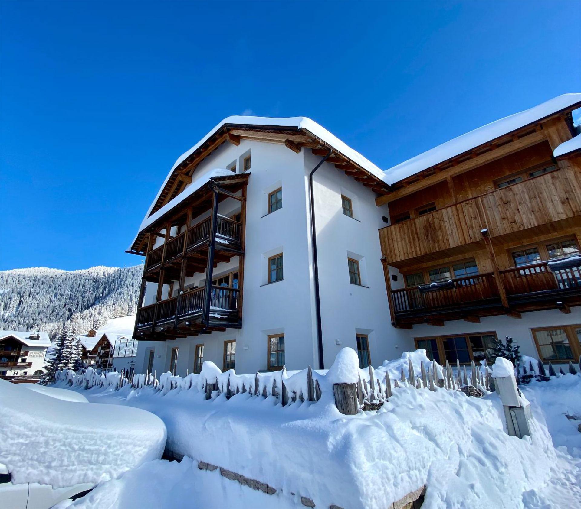 dove alloggiare in alta badia Vista Invernale